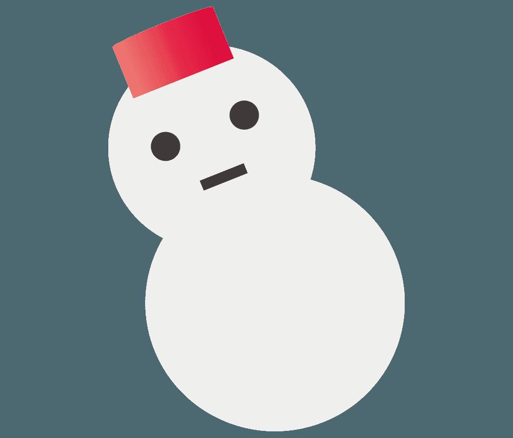 雪だるまの飾りイラスト