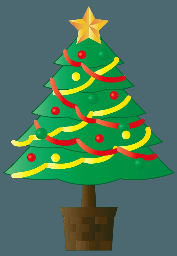 ベクター風のクリスマスツリーイラスト