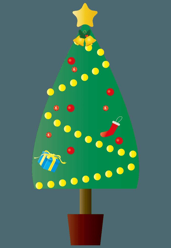 シンプルなクリスマスツリーイラスト