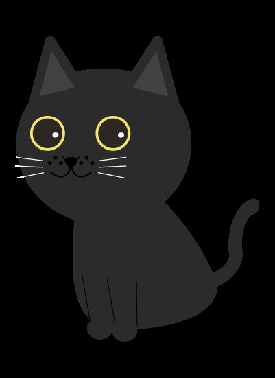 黒猫(左向き)のイラスト