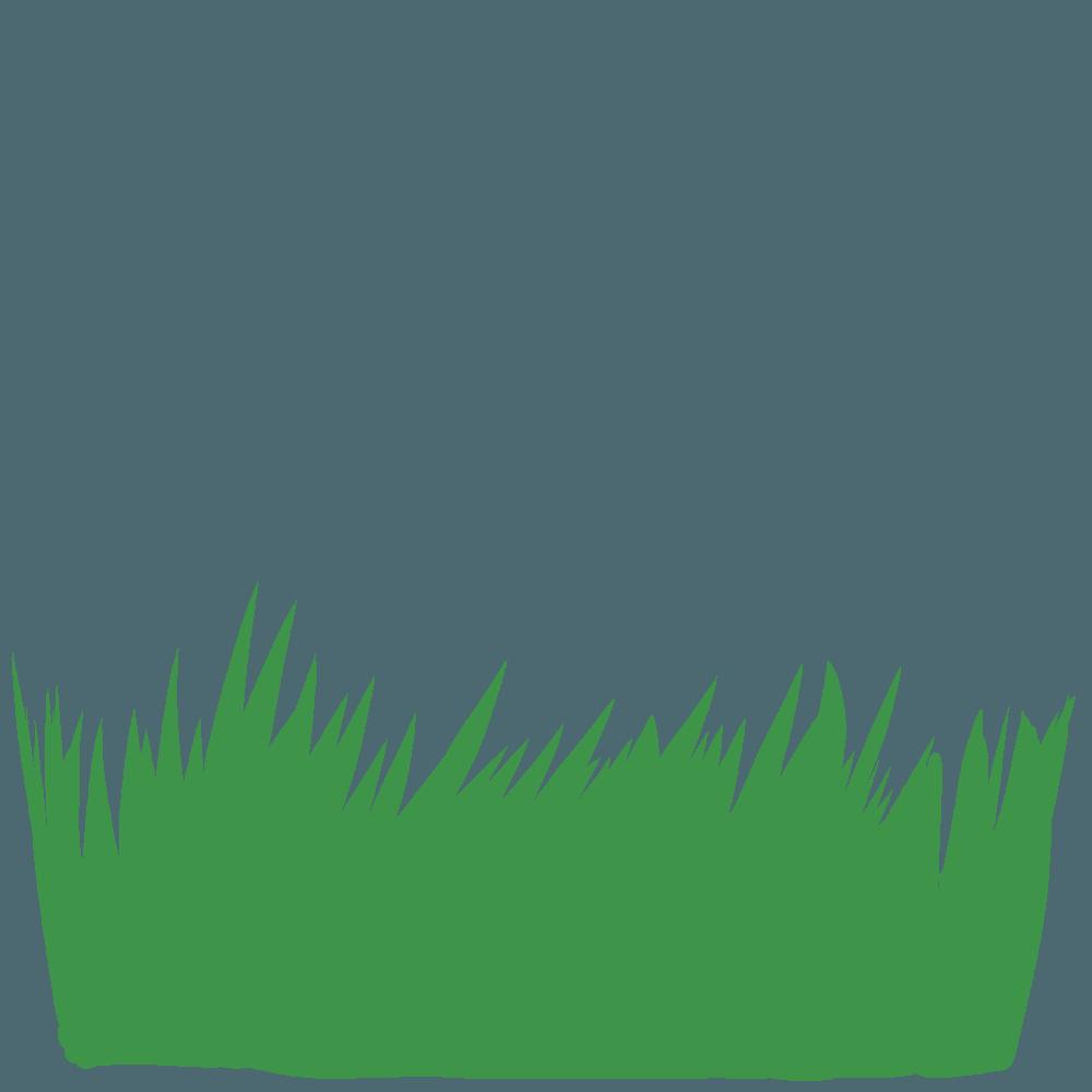 深緑の草イラスト