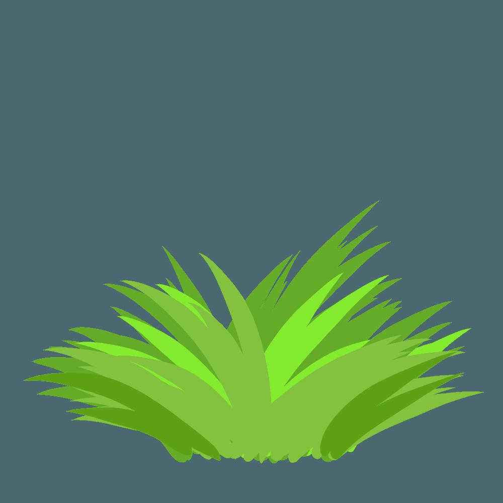 様々な方向へ生える草イラスト
