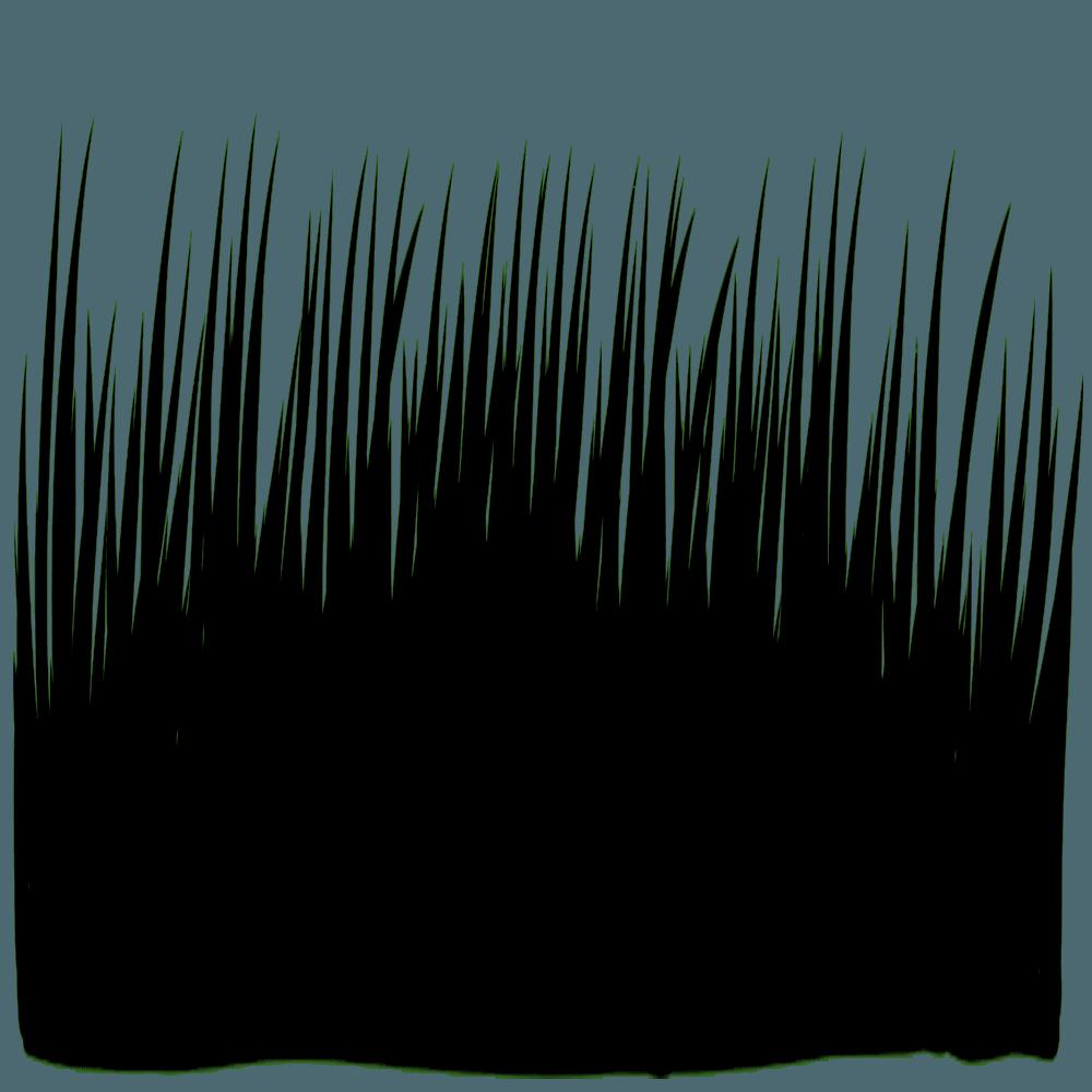 草のシルエットイラスト