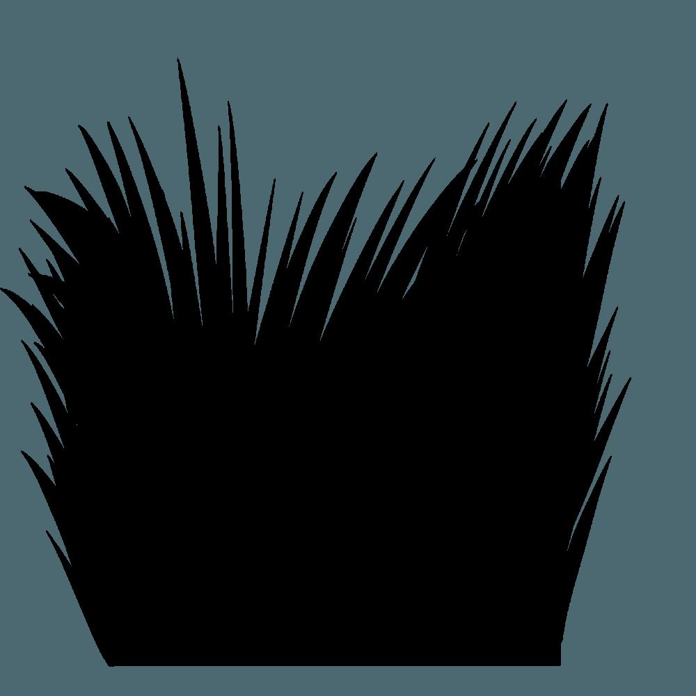 草のシルエットイラスト2