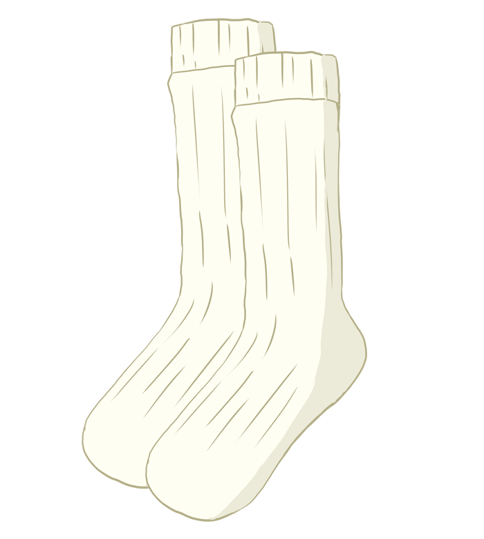 白いハイソックスのイラスト