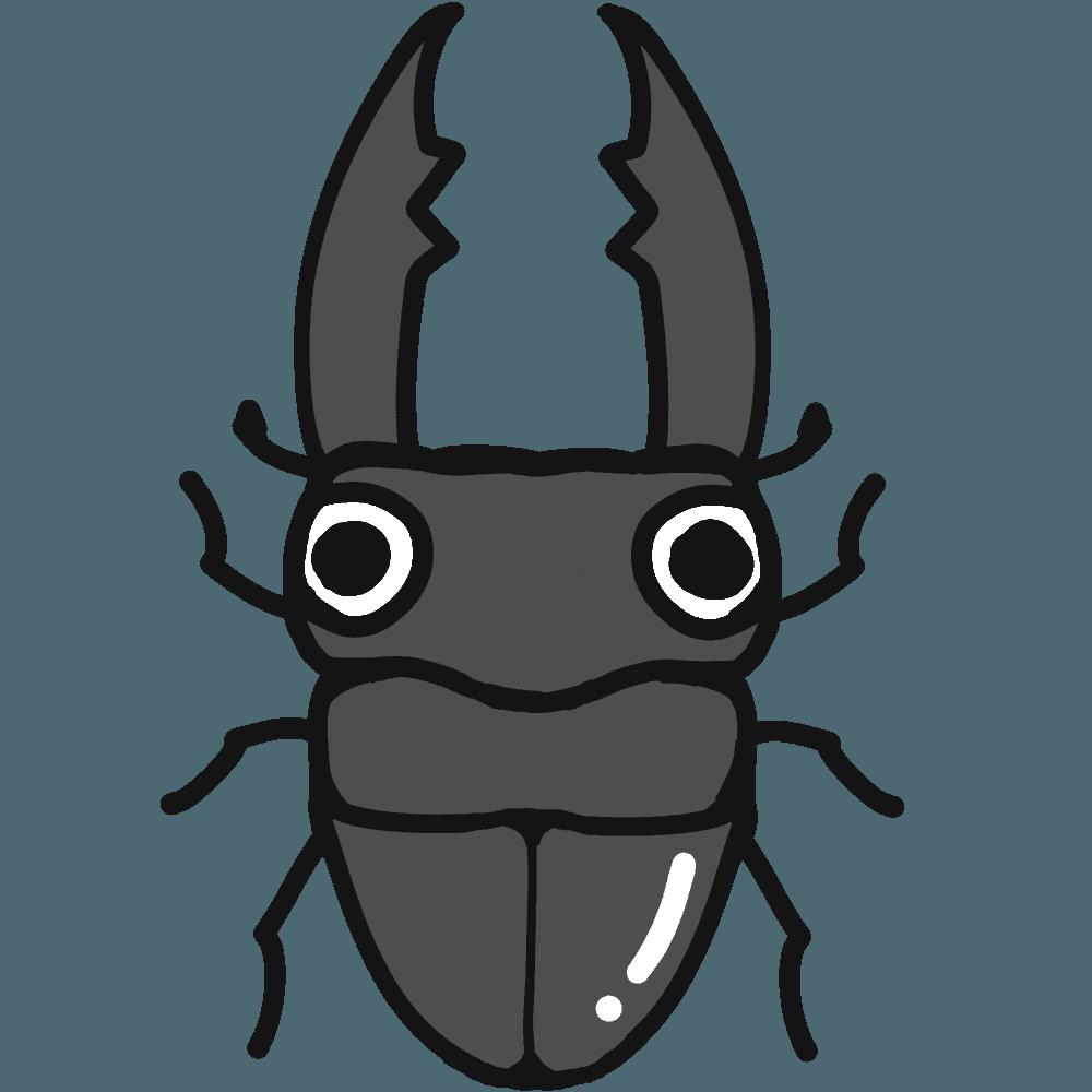 クワガタイラスト - リアル・可愛い昆虫の無料素材 - チコデザ