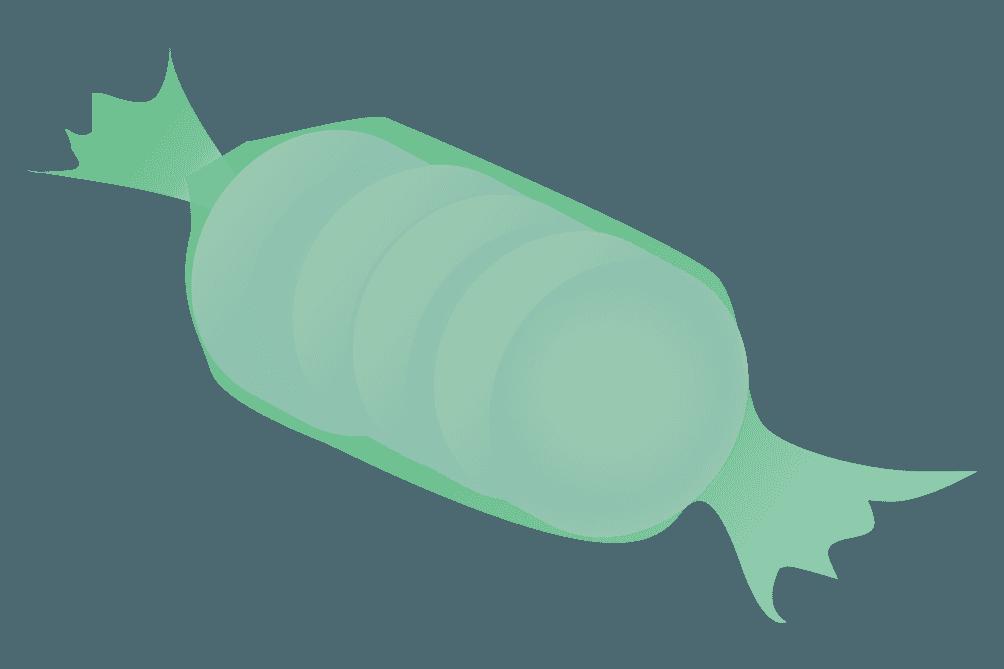 可愛い水色のラムネのイラスト