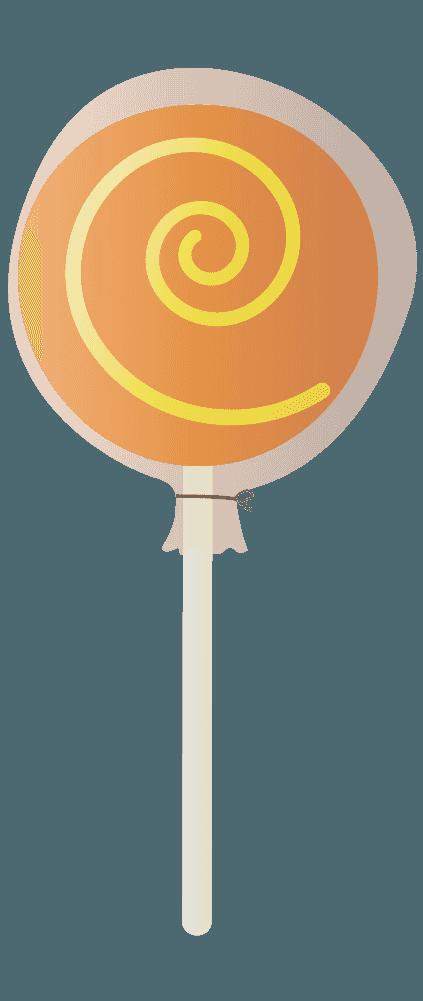 オレンジの棒キャンディ(包紙あり)のイラスト