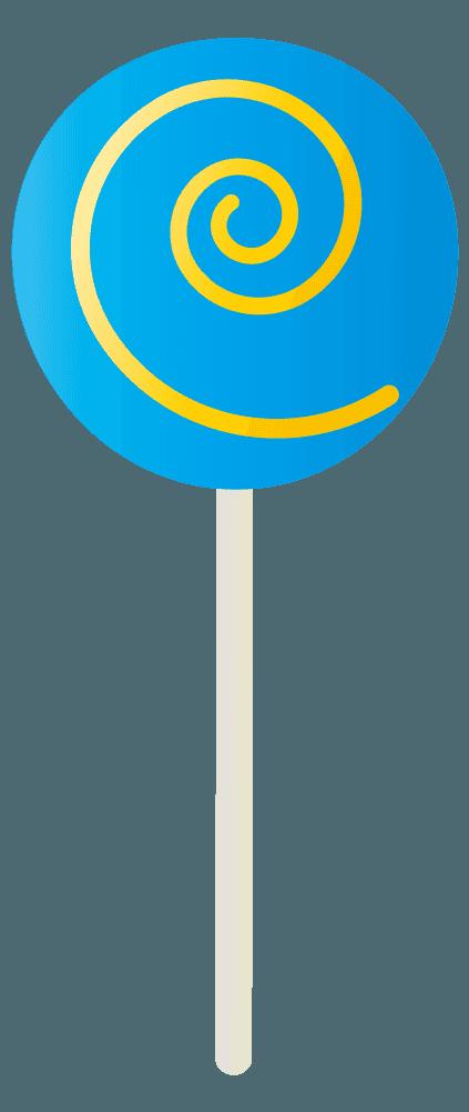 水色の棒キャンディのイラスト