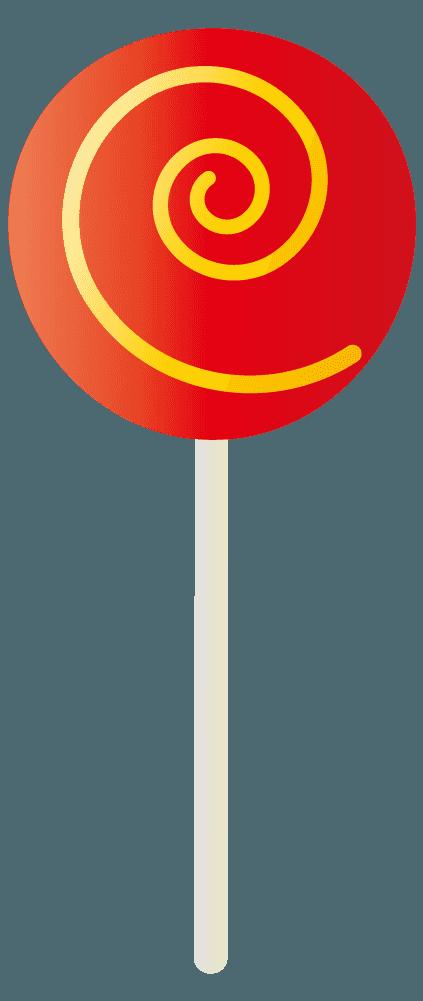 赤色の棒キャンディのイラスト