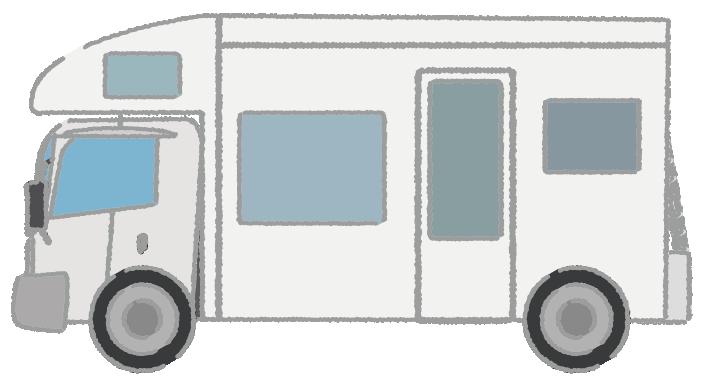 可愛い小型のキャンピングカーのイラスト