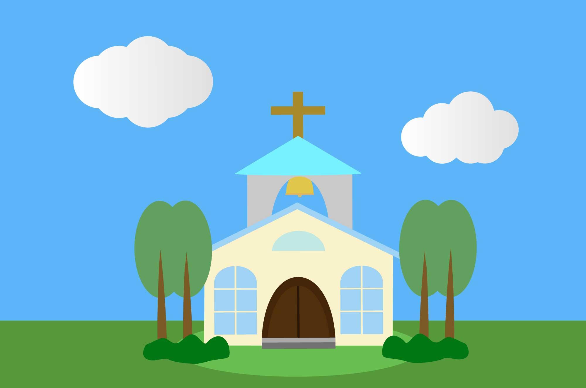 教会の無料イラスト - 聖なる建物のフリー素材