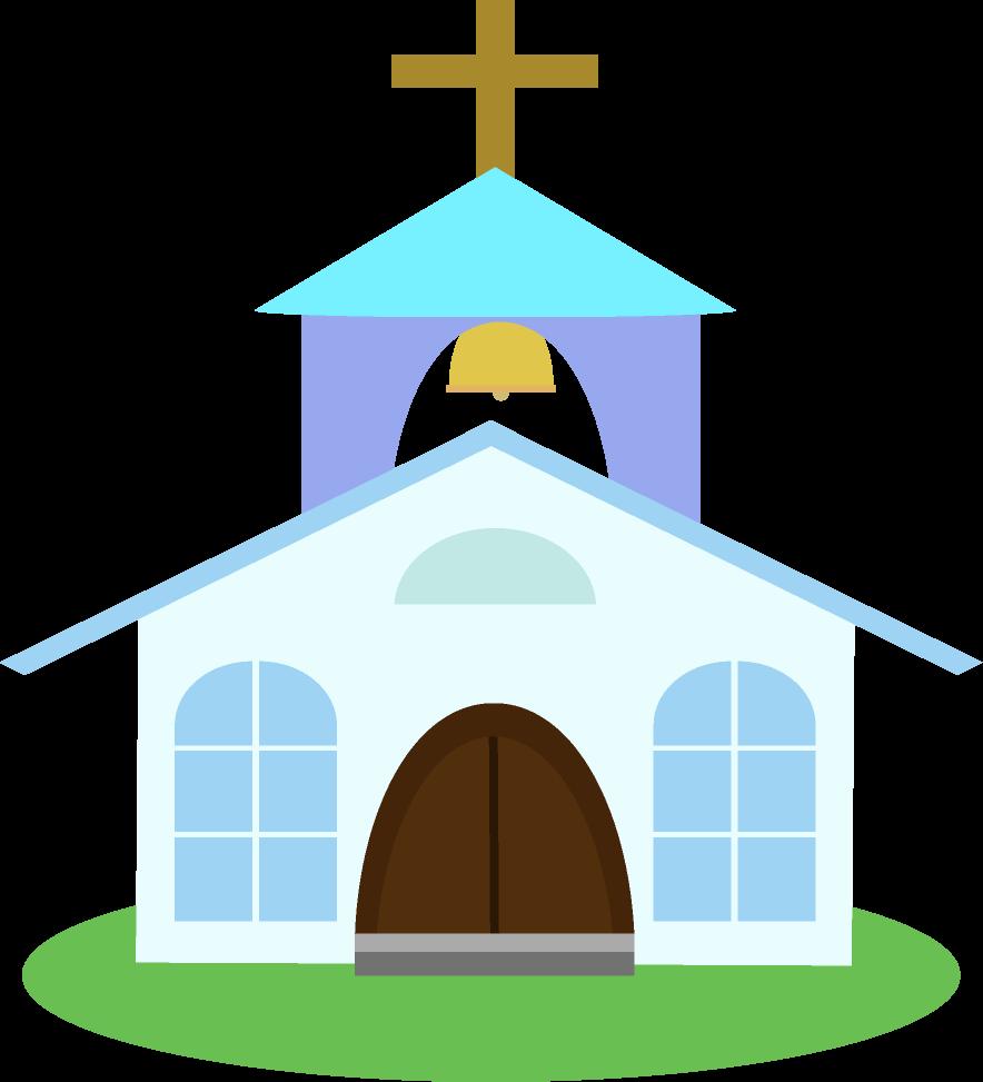 青い教会のイラスト