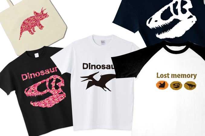 チコデザの恐竜Tシャツとトートバッグ