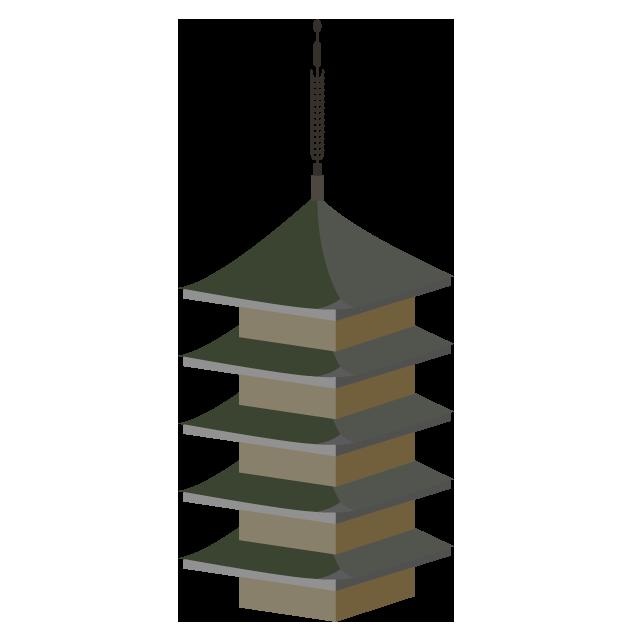 五重の塔のイラスト