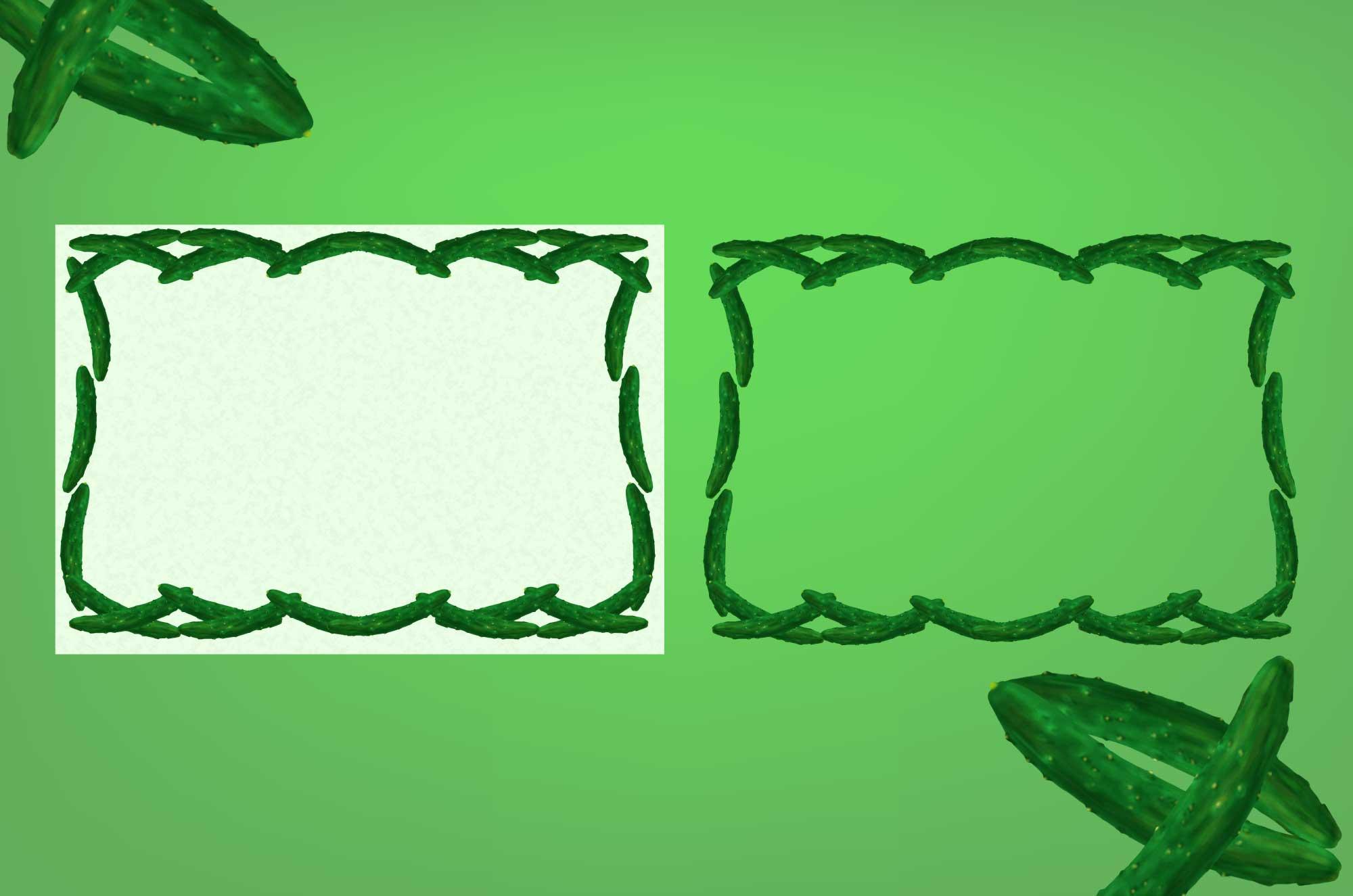 きゅうりの無料枠素材 - 面白い野菜のフレームデザイン