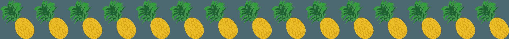 パイナップルのライン素材ライン素材