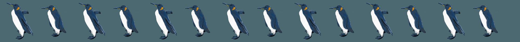 ペンギンのイラストライン