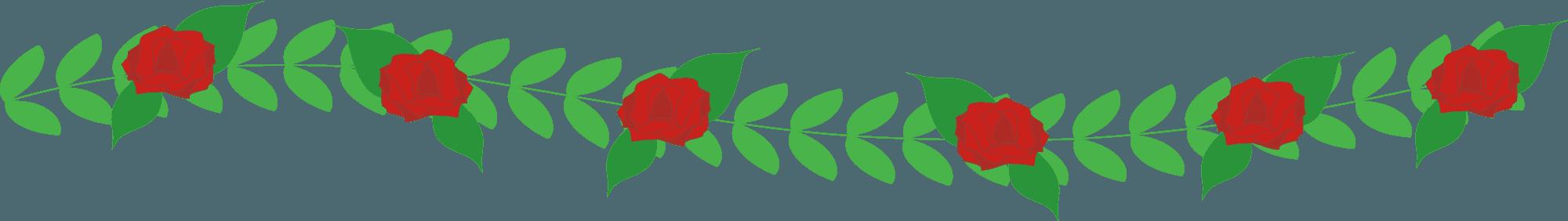 薔薇の花のライン素材
