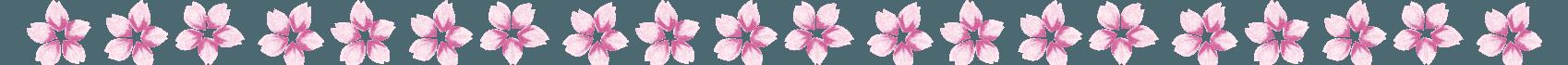 桜の花びらのライン素材