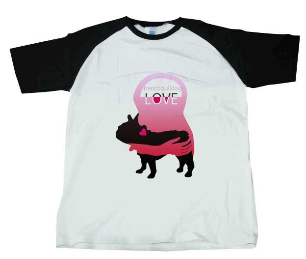 LOVEフレンチブルドッグシャツ ブラック