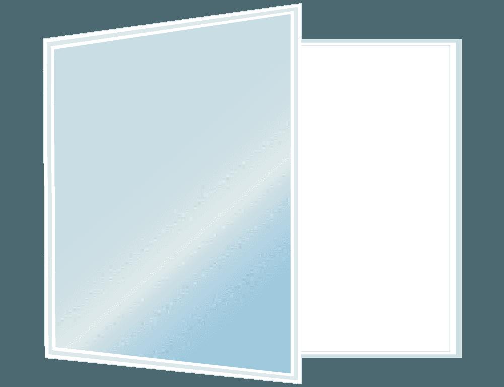 片側開きの窓のイラスト