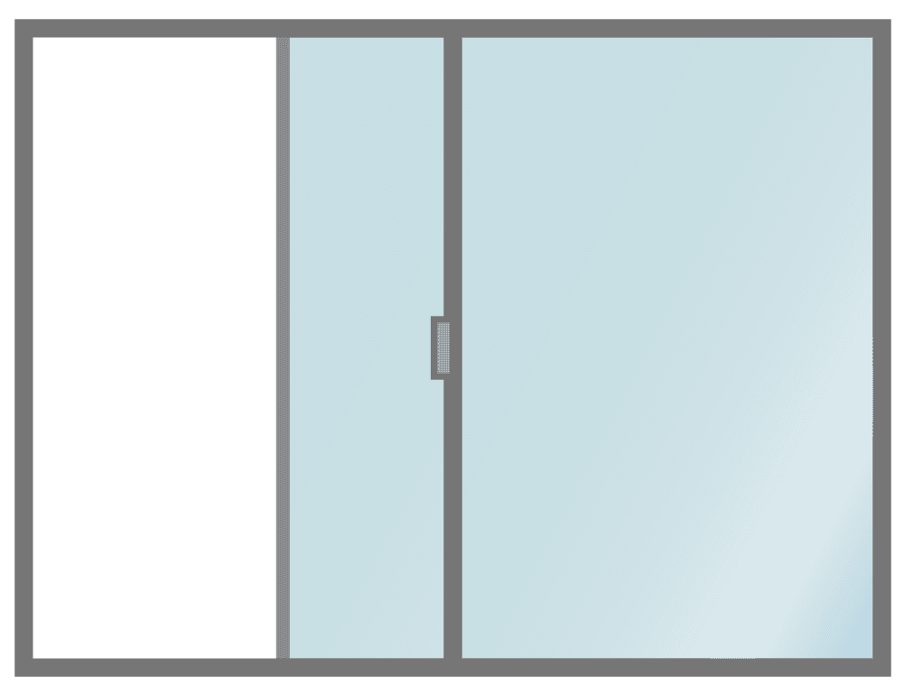 半分開いている窓のイラスト