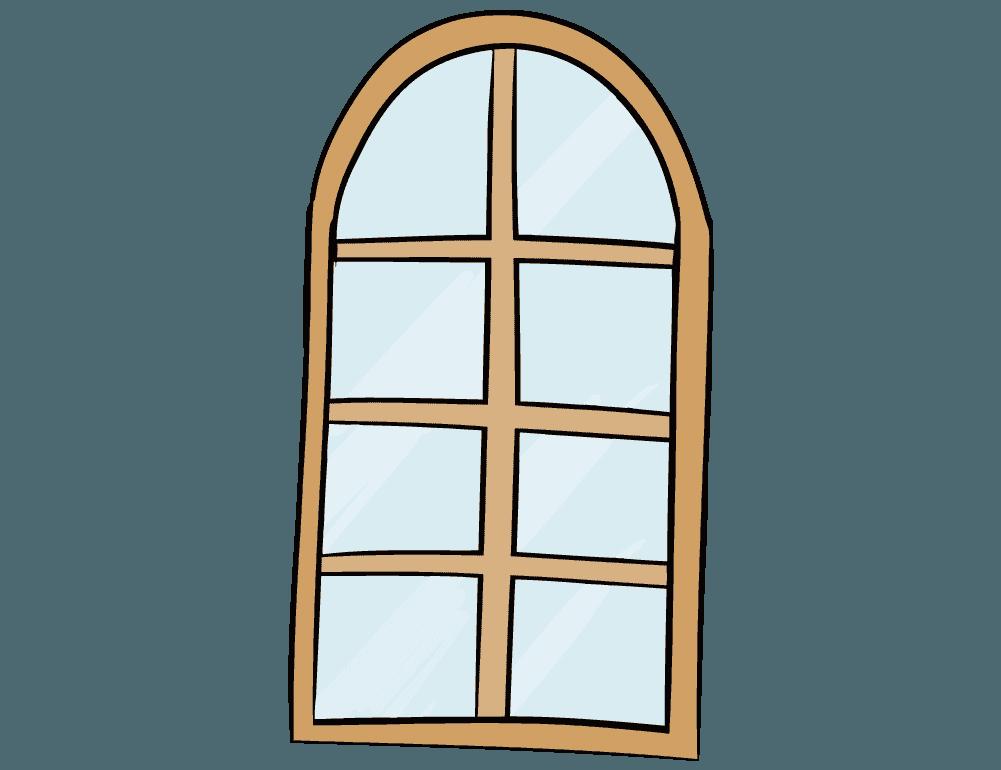 洋風な窓のイラスト
