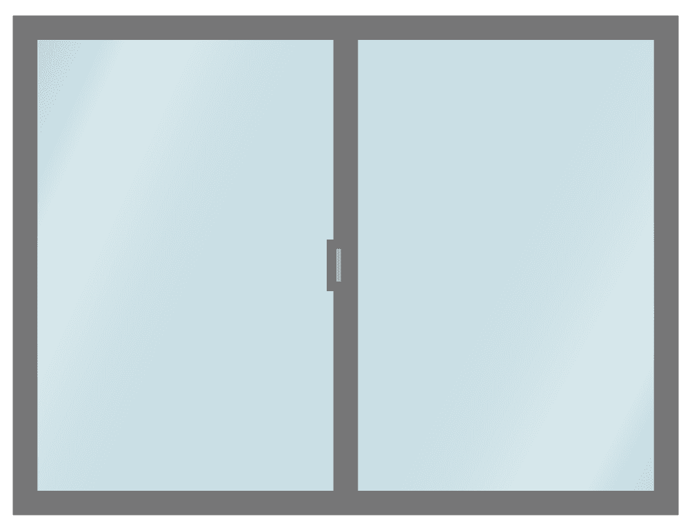 普通の引窓のイラスト