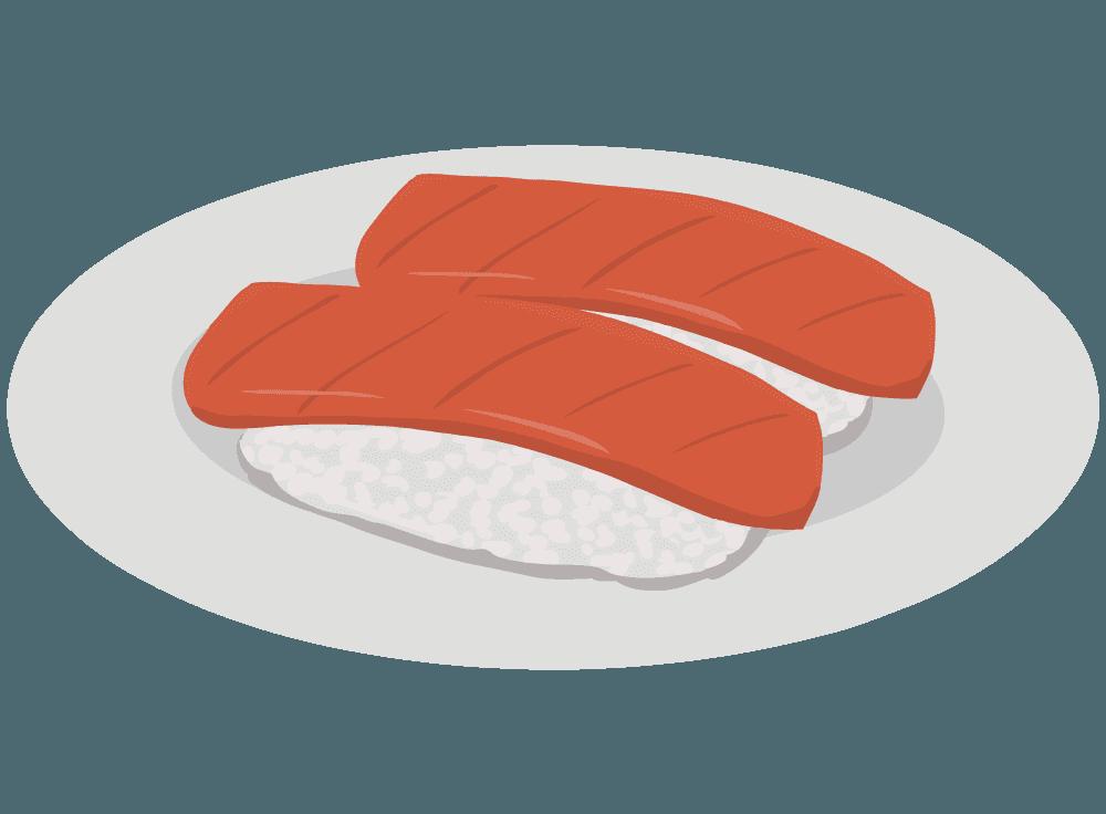 マグロの赤身のお寿司のイラスト
