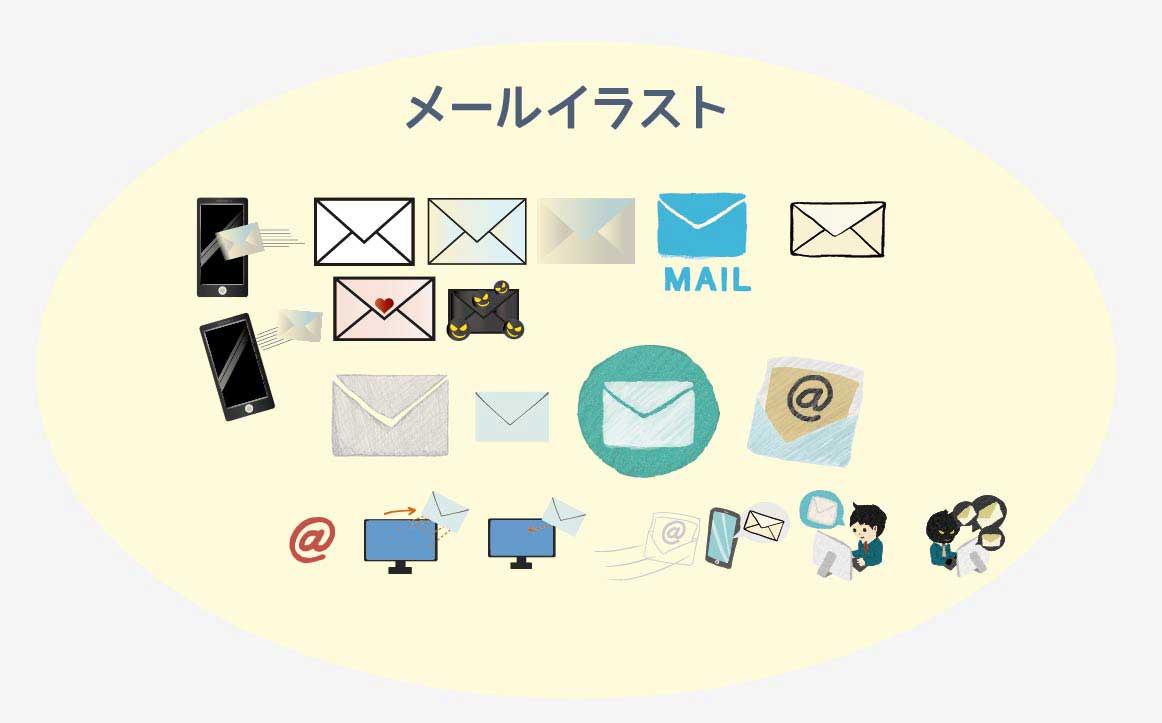 メールのベクターイラスト