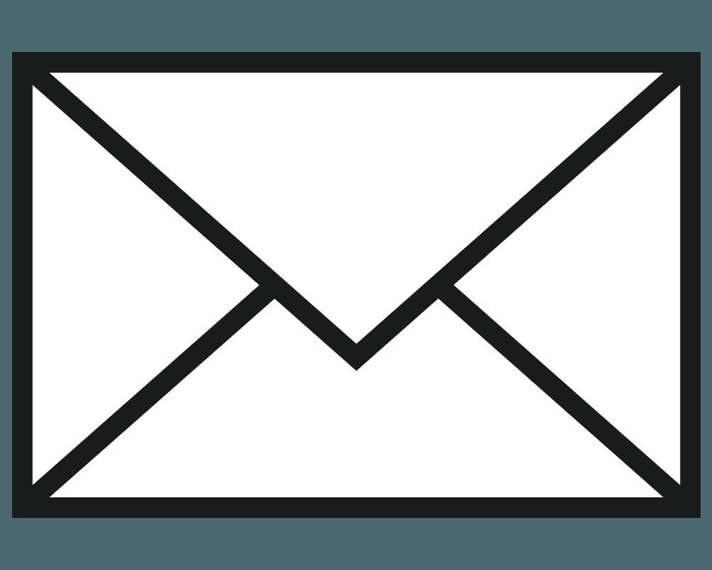 普通のEメールのマークのイラスト