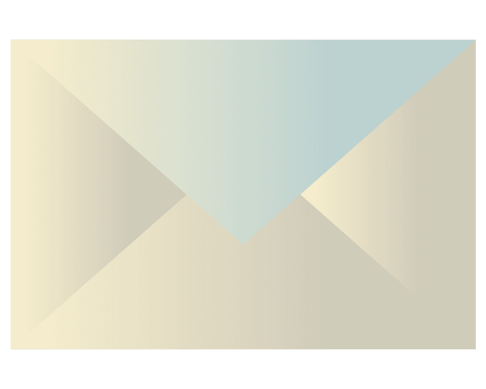 グラデーションのメールイラスト