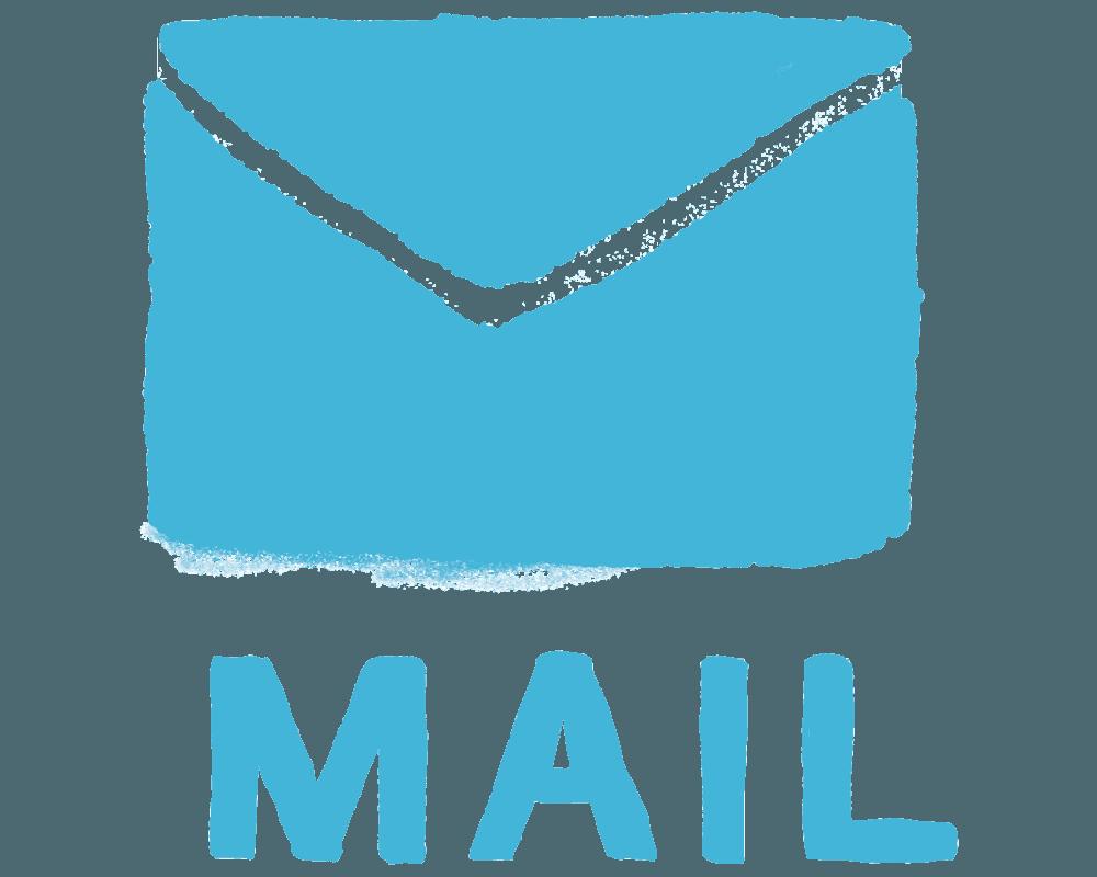 可愛い水彩タッチのメールのイラスト