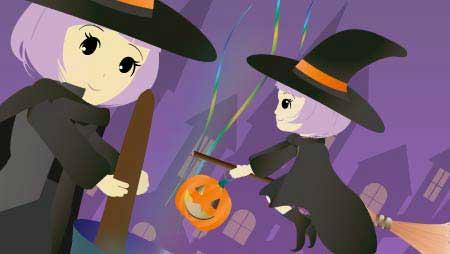 魔女イラスト - 可愛いハロウィンのキャラクター無料素材