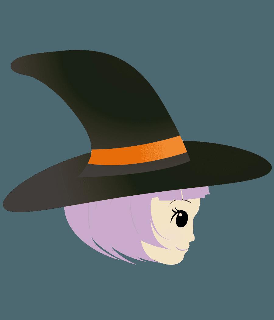 横向きの魔女イラスト