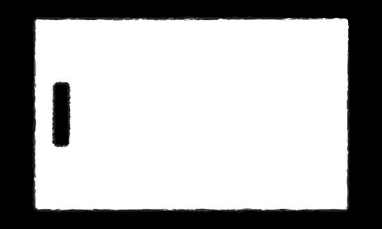 手書きのまな板のイラスト