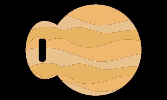 魚形のまな板のイラスト
