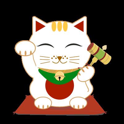うちでの小槌と招き猫のイラスト