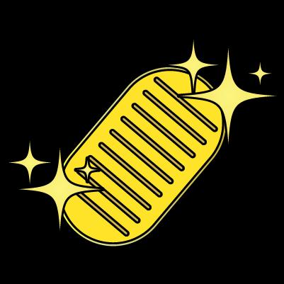 輝く小判(線あり)のイラスト