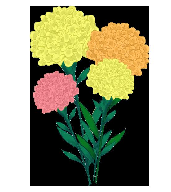 マリーゴールドの花束
