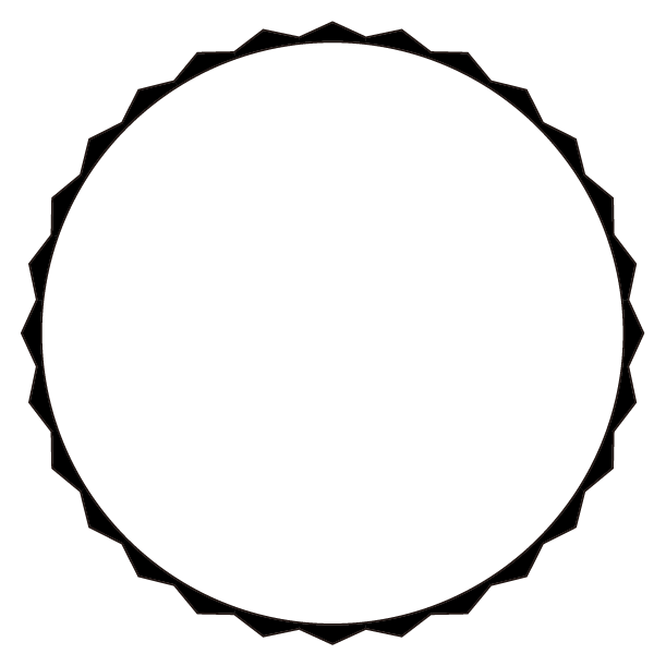 丸型エンブレムのイラスト1