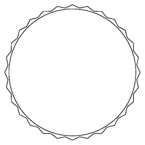 丸型エンブレムのイラスト2