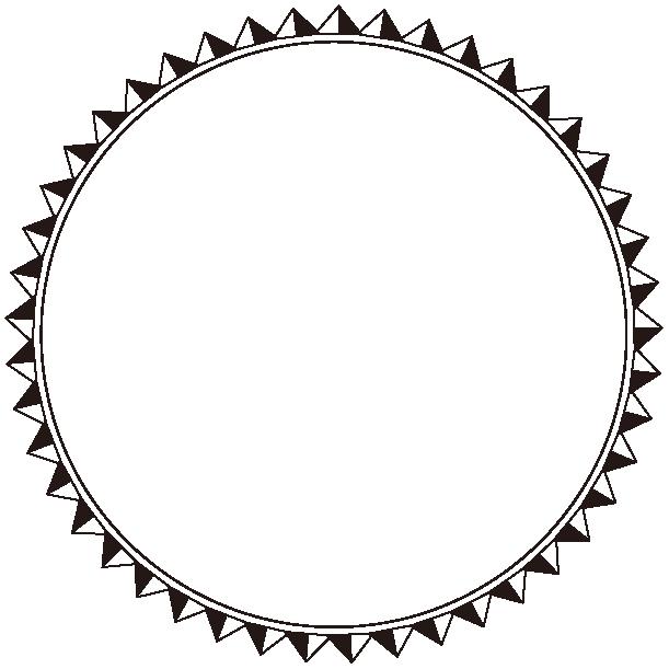 丸型エンブレムのイラスト3