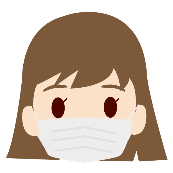 孫(女)の顔アイコンイラスト(マスク)