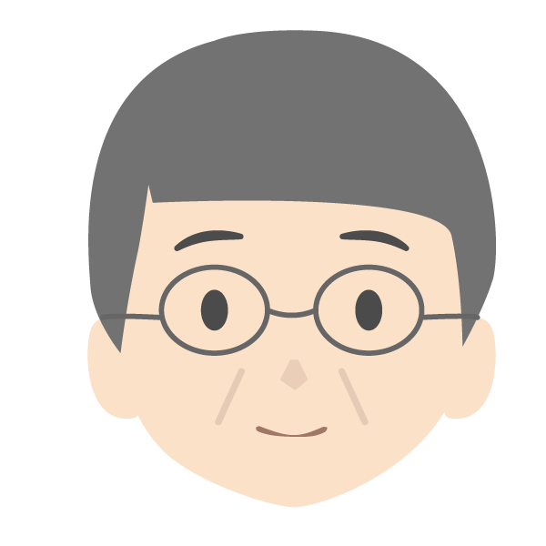 おじいちゃんの顔アイコンイラスト