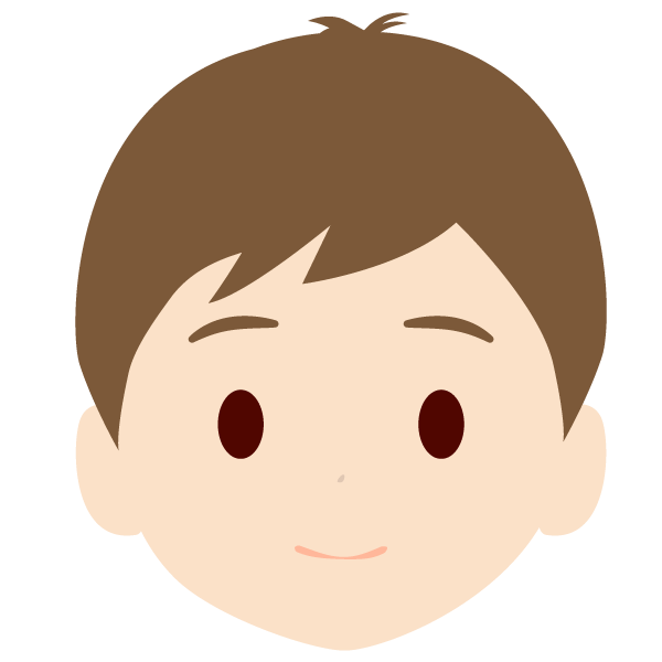 息子の顔アイコンイラスト