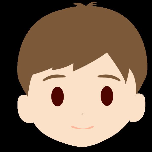 孫(男)の顔アイコンイラスト