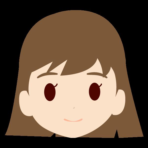 孫(女)の顔アイコンイラスト
