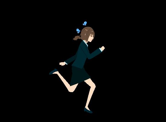 走る女のイラスト